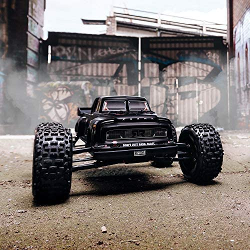 51+bCsBrH+L. AC  - ARRMA 1/8 Notorious 6S V5 4WD BLX Stunt RC Truck with Spektrum Firma RTR (Transmitter and Receiver Included, Batteries and Charger Required), Black, ARA8611V5T1
