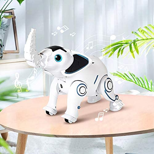 51 h6drIsIL. AC  - WomToy Remote Control Robot Elephant Toy, RC Robotic Toys Singing Dancing Interactive Children Toy Early Educational Imitates Animals for Boys and Girls, Ages 3 and Up (Elephant)