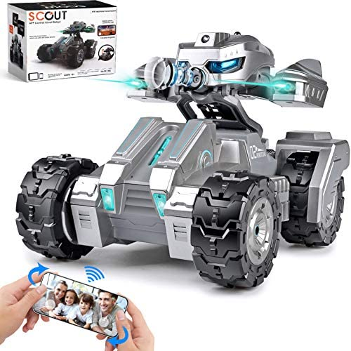 511l39vllIL. AC  - RC Car Remote Control Car with 720P HD FPV Camera 1/18 Remote Control Truck Gravity Sensor Rc Truck for Kids Versus Mode Rock Crawler Car Gift for Boys and Girls (Updated Android App)