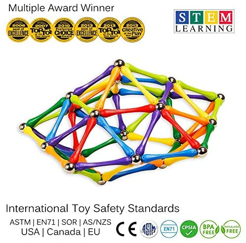 512zbM5yYFL. AC  - Goobi 180 Piece Construction Set Building Toy Active Play Sticks STEM Learning Creativity Imagination Children's 3D Puzzle Educational Brain Toys for Kids Boys and Girls with Instruction Booklet
