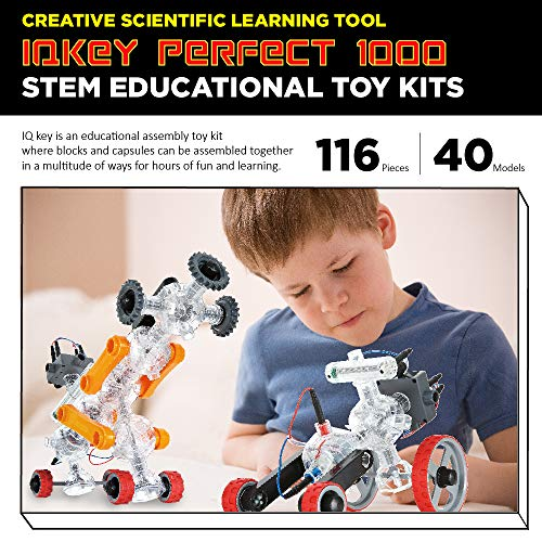 5133 nZNcgL - IQ-KEY Perfect 1000 – STEM Educational Assembly Toy Kits, Creative Construction Engineering Builder Set for Kids [40 Models]