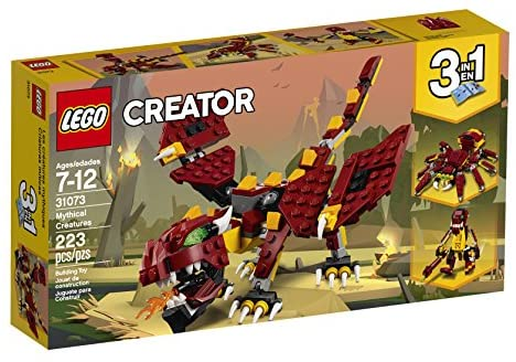 513mdYHKAhL. AC  - LEGO Creator 3in1 Mythical Creatures 31073 Building Kit (223 Pieces) (Discontinued by Manufacturer)