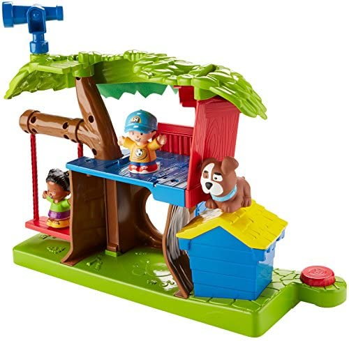 513ovbTH7XL. AC  - Fisher Price Little People Swing and Share Treehouse Playset [Amazon Exclusive]