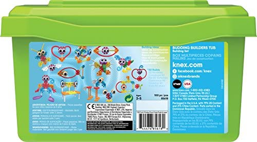 514050skr4L. AC  - KID K'NEX – Budding Builders Building Set – 100 Pieces – Ages 3 and Up – Preschool Educational Toy