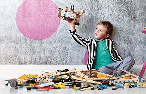 514l5wPQniL. AC  - Brio Builder 34589 - Builder Creative Set - 271 Piece Construction Set STEM Toy with Wood and Plastic Pieces for Kids Age 3 and Up