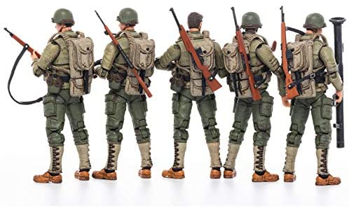 5161CXAxB6L. AC  - JOYTOY 1/18 Action Figures 4-Inch WWII US Army Figure PVC Military Model Collection Toys