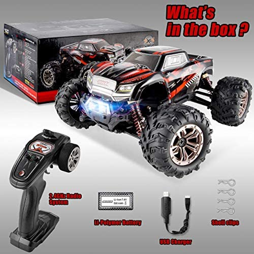 516U2XwawyL. AC  - BEZGAR 5 Hobby Grade 1:20 Scale Remote Control Truck, 4WD High Speed 30+ Kmh All Terrains Electric Toy Off Road RC Monster Vehicle Car Crawler with Rechargeable Batteries for Boys Kids and Adults