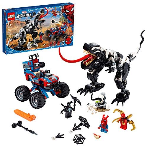 517N7ME9NTL. AC  - LEGO Marvel Spider-Man Venomosaurus Ambush 76151 Building Toy with Superhero Minifigures; Popular Holiday and Birthday Present for Kids who Love Spider-Man Construction Toys, New 2020 (640 Pieces)