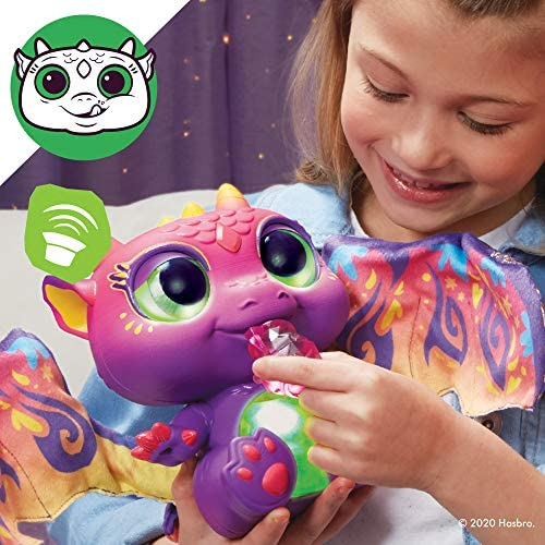 517Shzg9pOL. AC  - furReal Moodwings Baby Dragon Interactive Pet Toy, 50+ Sounds & Reactions, Ages 4 and Up