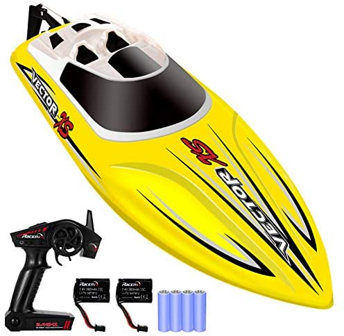 517usdpmj0L. AC  - YEZI Remote Control Boat for Pools & Lakes,Udi001 Venom Fast RC Boat for Kids & Adults,Self Righting Remote Controlled Boat W/Extra Battery (Yellow)