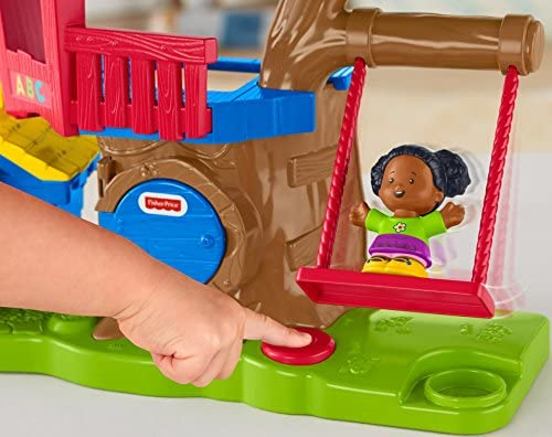 517y2TrSRvL. AC  - Fisher Price Little People Swing and Share Treehouse Playset [Amazon Exclusive]