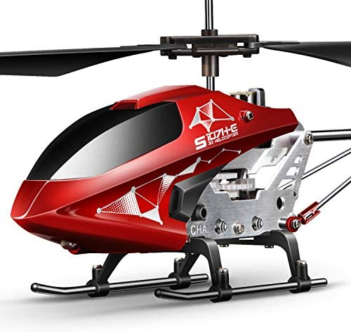 519477392PL. AC  - Remote Control Helicopter, S107H-E Aircraft with Altitude Hold, One Key take Off/Landing, 3.5 Channel, Gyro Stabilizer and High &Low Speed, LED Light for Indoor to Fly for Kids and Beginners(Red)