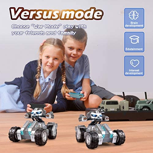 519Kw+N+MrL. AC  - RC Car Remote Control Car with 720P HD FPV Camera 1/18 Remote Control Truck Gravity Sensor Rc Truck for Kids Versus Mode Rock Crawler Car Gift for Boys and Girls (Updated Android App)