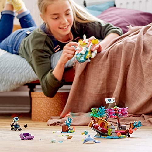 519gHGQq82L. AC  - LEGO Friends Dolphins Rescue Mission 41378 Building Kit with Toy Submarine and Sea Creatures, Fun Sea Life Playset with Kacey and Stephanie Minifigures for Group Play (363 Pieces)