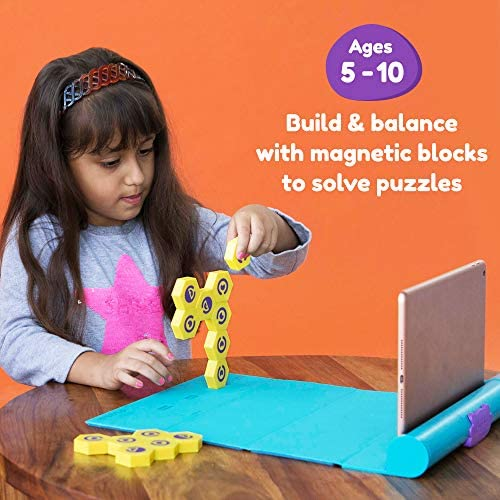 51AX1GNP8AL. AC  - Shifu Plugo Link - Construction Kit with Puzzles, Augmented Reality Stem Toy   Fun Magnetic Building Blocks   Educational Engineering, Ages 5 - 10 Year Old Boys & Girls (App Based)