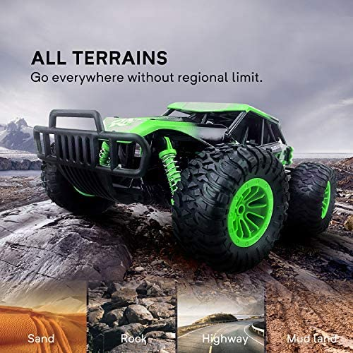 51Azg3YHUSL. AC  - Remote Control Car, Gizmovine 1:14 Scale Large Electric Drift RC Cars, High Speed Waterproof Race Cars for Boys Adults, 2.4GHz Off Road RC Trucks Buggy Toys with 2 Rechargeable Battery (Green)