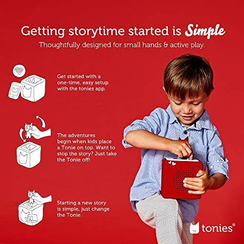 51BTkVMJ WL. AC  - Toniebox Starter Set Red + Playtime Action - Educational Musical Toy for Boys and Girls - Imagination-Building, Screen-Free Digital Listening Experience That Plays Stories, Songs, and More
