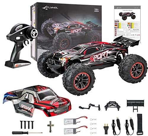 51CxwUf8mTL. AC  - FLYHAL X04 PRO Remote Control Car RC Car 52km/h 32MPH 1:10 Scale 4WD Off-Road Rc Car for Adults and Kids Replaceable Car Shell 2.4 GHz Truck (2 Batteries)