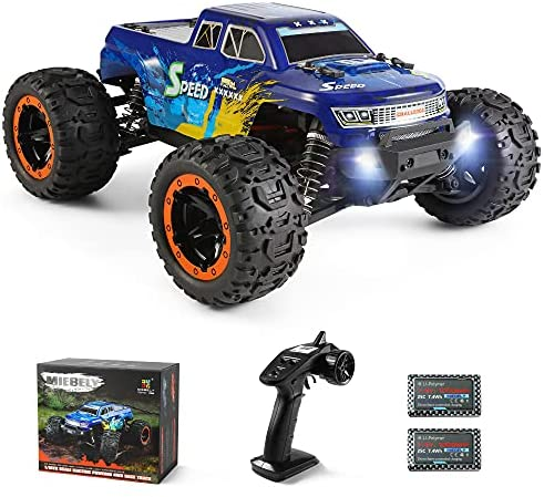 51D qpPpM9S. AC  - MIEBELY Fast RC Cars – 4x4 Remote Control Car for Adults and Kids – 1:16 Scale Electric Powered 40km High Speed – 4WD All Terrain Off Road Truck – Ideal for Kids and Adults – 2 Rechargeable Batteries