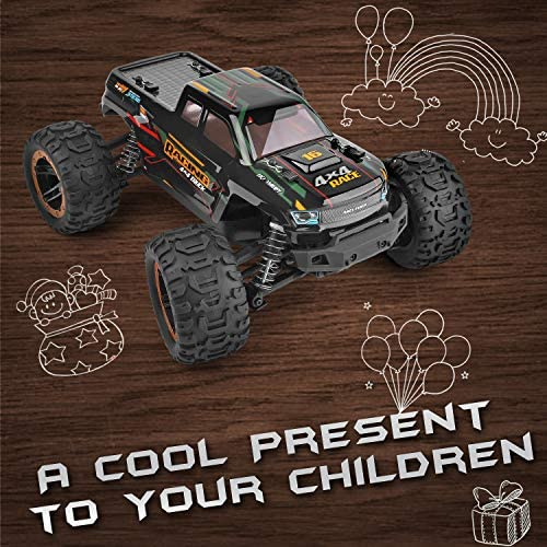 51DCDG2HKsL. AC  - Remote Control Car 16889, 1:16 Scale 2.4Ghz RC Cars 4x4 Off Road Trucks, Waterproof RTR RC Monster Truck 36KM/H, Remote Controlled Toys for Kids and Adults with 2 Batteries 35+ mins Play