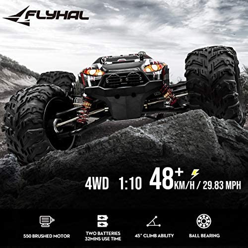 51DCwCVCEuL. AC  - FLYHAL X04 PRO Remote Control Car RC Car 52km/h 32MPH 1:10 Scale 4WD Off-Road Rc Car for Adults and Kids Replaceable Car Shell 2.4 GHz Truck (2 Batteries)
