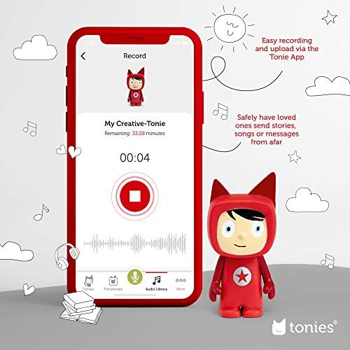 51DOq uJTBL. AC  - Toniebox Starter Set Red + Playtime Action - Educational Musical Toy for Boys and Girls - Imagination-Building, Screen-Free Digital Listening Experience That Plays Stories, Songs, and More