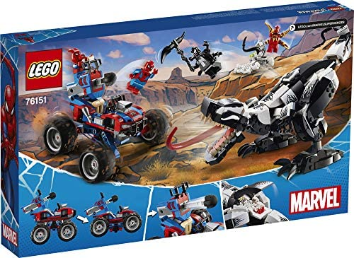 51FZjCC8LcL. AC  - LEGO Marvel Spider-Man Venomosaurus Ambush 76151 Building Toy with Superhero Minifigures; Popular Holiday and Birthday Present for Kids who Love Spider-Man Construction Toys, New 2020 (640 Pieces)