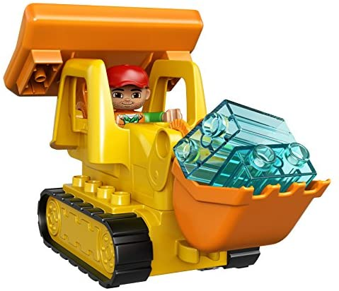 51G2QsUgwwL. AC  - LEGO DUPLO Big Construction Site 10813 Building Set with Toy Dump Truck, Toy Crane and Toy Bulldozer for a Complete Toddler Construction Toy Set (67 Pieces)
