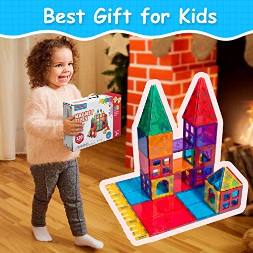 51G7f2jbcdL. AC  - VATENIC 120PCS Kids Magnetic Tiles Building Blocks 2 Car Set Color Magnetic Blocks Toys for Kids Children,Educational Learning Building Toys Birthday Gifts for Boys Girls Age 3 4 5 6 7 8 9 10 Year Old