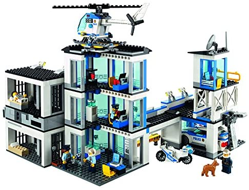51GNV8EUIxL. AC  - LEGO City Police Station 60141 Building Kit with Cop Car, Jail Cell, and Helicopter, Top Toy and Play Set for Boys and Girls (894 Pieces) (Discontinued by Manufacturer)