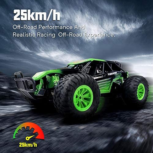 51GdmlqWhYL. AC  - Remote Control Car, Gizmovine 1:14 Scale Large Electric Drift RC Cars, High Speed Waterproof Race Cars for Boys Adults, 2.4GHz Off Road RC Trucks Buggy Toys with 2 Rechargeable Battery (Green)