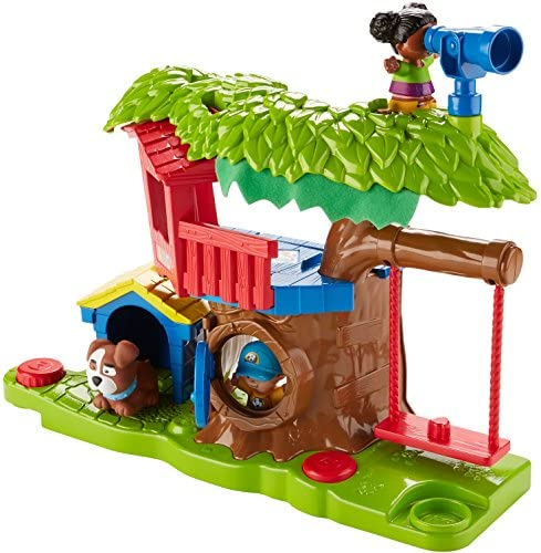 51Gf2evHcHL. AC  - Fisher Price Little People Swing and Share Treehouse Playset [Amazon Exclusive]