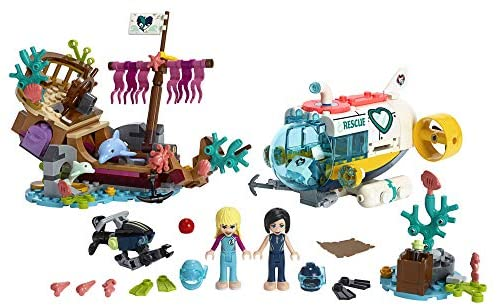 51H1eXtst0L. AC  - LEGO Friends Dolphins Rescue Mission 41378 Building Kit with Toy Submarine and Sea Creatures, Fun Sea Life Playset with Kacey and Stephanie Minifigures for Group Play (363 Pieces)