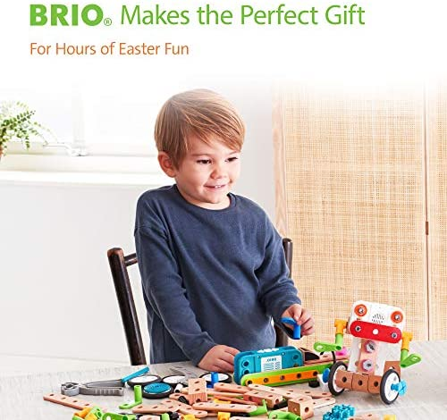 51HP7qzvV5L. AC  - Brio Builder 34589 - Builder Creative Set - 271 Piece Construction Set STEM Toy with Wood and Plastic Pieces for Kids Age 3 and Up