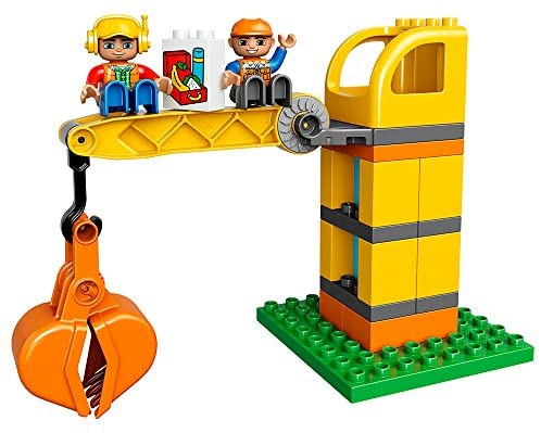 51JdGaIXdQL. AC  - LEGO DUPLO Big Construction Site 10813 Building Set with Toy Dump Truck, Toy Crane and Toy Bulldozer for a Complete Toddler Construction Toy Set (67 Pieces)
