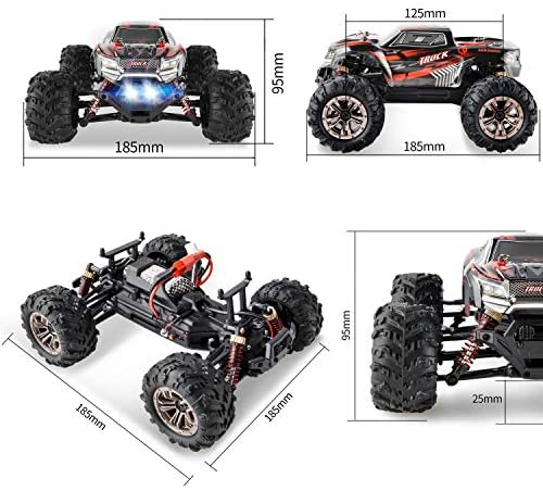 51KE07Y8ETL. AC  - BEZGAR 5 Hobby Grade 1:20 Scale Remote Control Truck, 4WD High Speed 30+ Kmh All Terrains Electric Toy Off Road RC Monster Vehicle Car Crawler with Rechargeable Batteries for Boys Kids and Adults