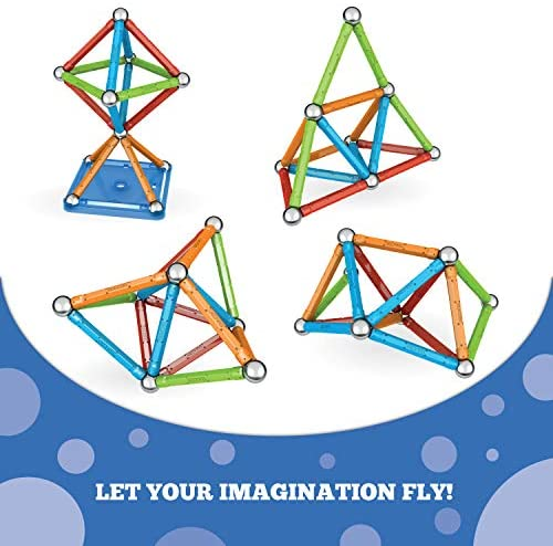 51MwHdF0sXL. AC  - Geomag Magnetic Sticks and Balls Building Set   Magnet Toys for STEM, Creative, Educational Construction Play   Swiss-made Innovation   Confetti 88 Piece Age 3+, Light blue, orange, green, red