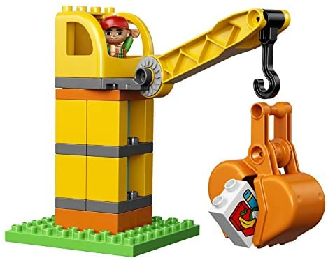51NL2QmboNL. AC  - LEGO DUPLO Big Construction Site 10813 Building Set with Toy Dump Truck, Toy Crane and Toy Bulldozer for a Complete Toddler Construction Toy Set (67 Pieces)