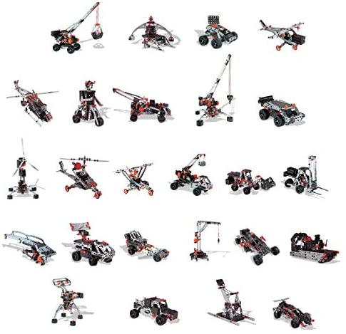 51NYkjEg bL. AC  - Erector by Meccano Super Construction 25-In-1 Motorized Building Set, Steam Education Toy, 638 Parts, For Ages 10+