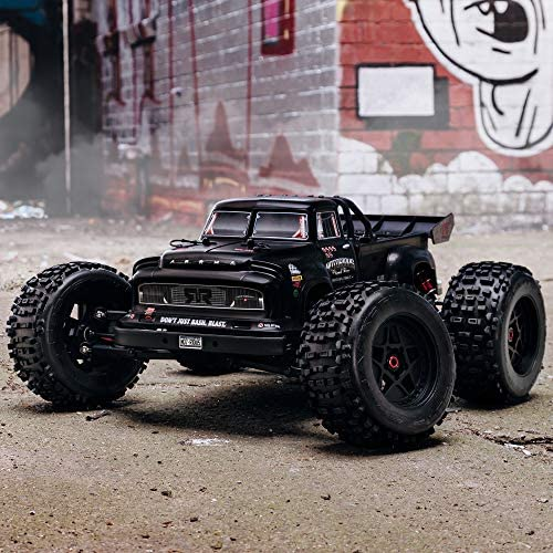 51Nif0KoWGL. AC  - ARRMA 1/8 Notorious 6S V5 4WD BLX Stunt RC Truck with Spektrum Firma RTR (Transmitter and Receiver Included, Batteries and Charger Required), Black, ARA8611V5T1