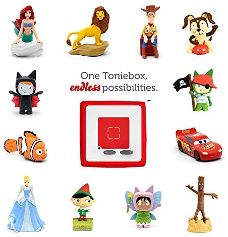 51OBMR57bYL. AC  - Toniebox Starter Set Red + Playtime Action - Educational Musical Toy for Boys and Girls - Imagination-Building, Screen-Free Digital Listening Experience That Plays Stories, Songs, and More