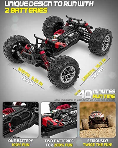 51OYc+cgFiL. AC  - 1:16 Scale Large RC Cars 36+ kmh Speed - Boys Remote Control Car 4x4 Off Road Monster Truck Electric - All Terrain Waterproof Toys Trucks for Kids and Adults - 2 Batteries + Connector for 40+ Min Play