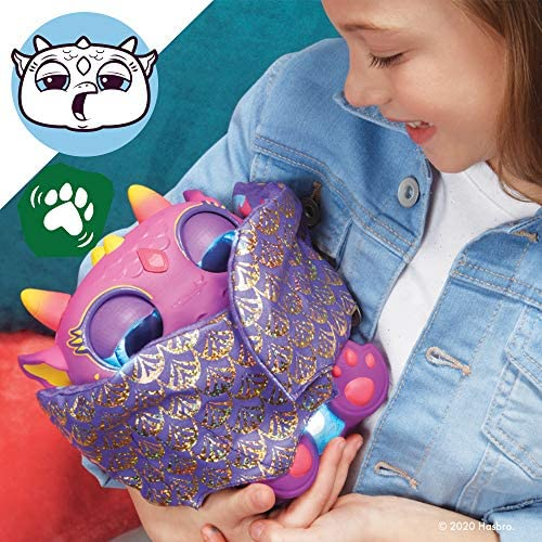 51OsAnh8O0L. AC  - furReal Moodwings Baby Dragon Interactive Pet Toy, 50+ Sounds & Reactions, Ages 4 and Up