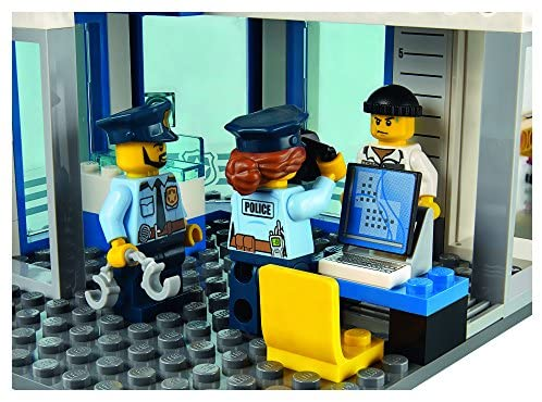 51PdE1HCF6L. AC  - LEGO City Police Station 60141 Building Kit with Cop Car, Jail Cell, and Helicopter, Top Toy and Play Set for Boys and Girls (894 Pieces) (Discontinued by Manufacturer)