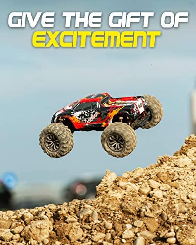 51PgncsyTeL. AC  - 1:10 Scale Large RC Cars 48+ kmh Speed - Boys Remote Control Car 4x4 Off Road Monster Truck Electric - All Terrain Waterproof Toys Trucks for Kids and Adults - 2 Batteries + Connector for 40+ Min Play