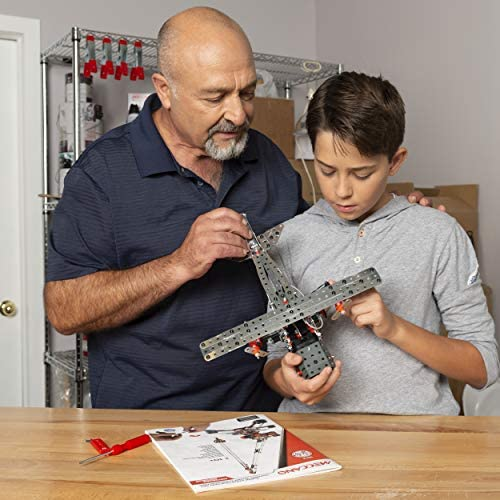 51PkzApS7iL. AC  - Erector by Meccano Super Construction 25-In-1 Motorized Building Set, Steam Education Toy, 638 Parts, For Ages 10+