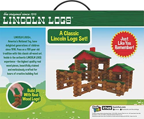 51QUhmQIfJL. AC  - LINCOLN LOGS – Classic Farmhouse - 268 Pieces - Real Wood Logs - Ages 3+ - Best Retro Building Gift Set for Boys/Girls – Creative Construction Engineering-Top Blocks Game Kit - Preschool Education Toy