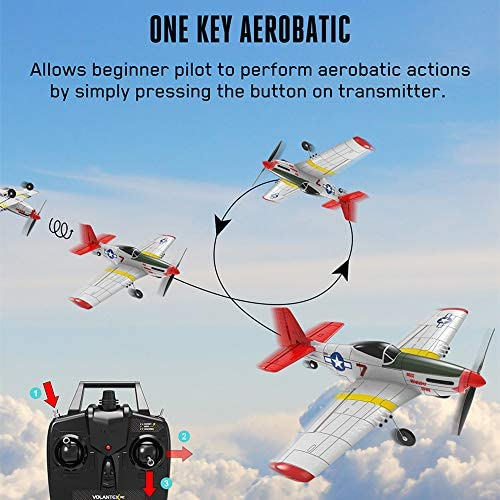 51QoYhlYqeL. AC  - SONIKRC VOLANTEXRC Remote Control Airplane P51D 400mm 4CH 2.4G RC Model Plane Outdoor Toys for Kid Birthday Gift