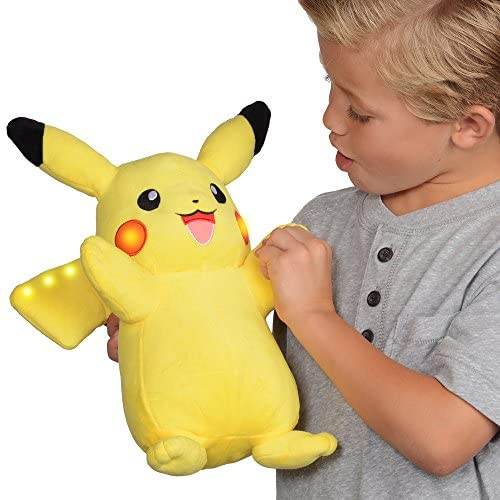 51RAoXARTpL. AC  - Pokemon Plush, Power Action Interactive Pikachu - Comes with Movement Sensors, Lights and Sounds