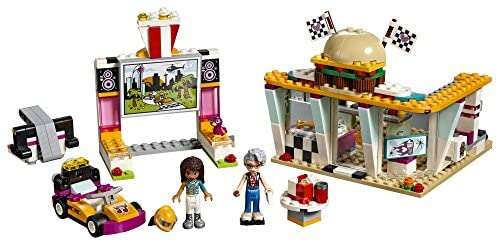 51S1l5+jATL. AC  - LEGO Friends Drifting Diner 41349 Race Car and Go-Kart Toy Building Kit for Kids, Best Creative Gift for Girls and Boys (345 Pieces) (Discontinued by Manufacturer)